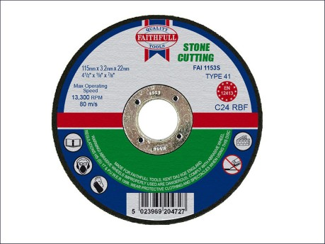115 x 3.2 x 22mm Cut Off Disc for Stone