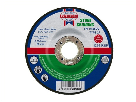 115 x 6 x 22mm Grinding Disc for Stone