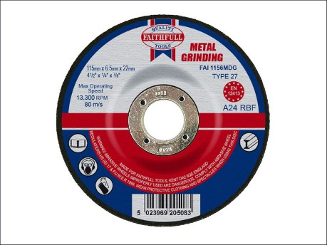 115 x 6.5 x 22mm Grinding Disc for Metal