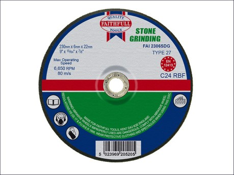 230 x 6 x 22mm Grinding Disc for Stone