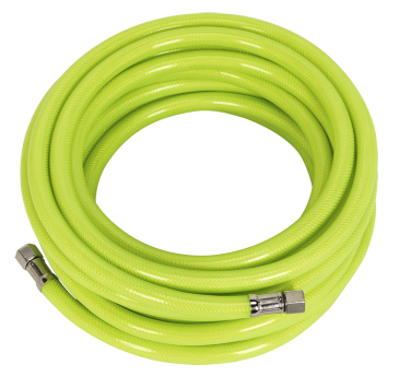 "Air Hose High Visibility 10mtr x Ø8mm with 1/4""BSP Unions"