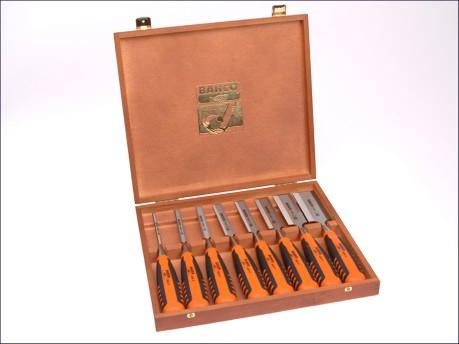 424-P Bevel Edge Chisel Set of 8: 6,10,12,16,18,25,32 & 38mm