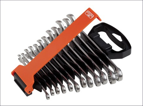 Chrome Polished Combination Spanner Set of 12 Metric 8-19mm