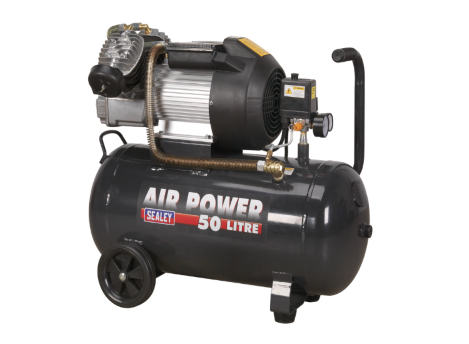 Compressor 50ltr V-Twin Direct Drive 3hp