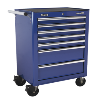 Rollcab 7 Drawer with Ball Bearing Runners - Blue