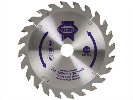 Circular Saw Blade 152 x 20mm x 24T Fast Rip
