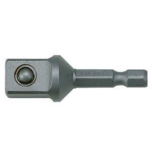 Socket Adaptor 1/4 hex x 1/2 Square 50mm