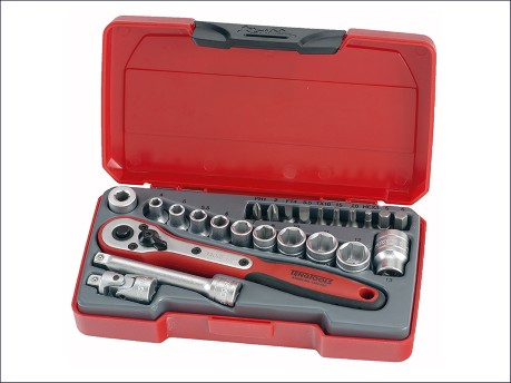 T1424 Socket Set of 24 Metric 1/4in Drive
