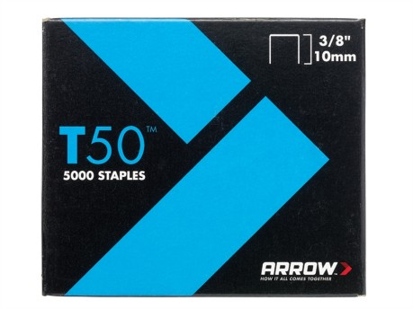 T50 Staples 10mm (3/8in) Pack 5000 (4 x 1250)