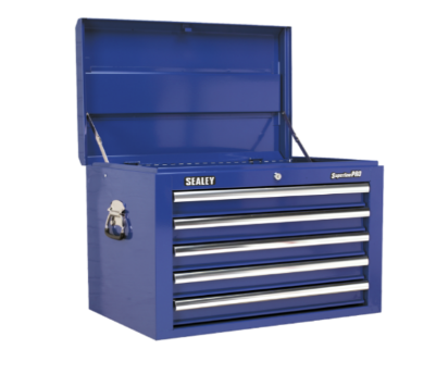Topchest 5 Drawer with Ball Bearing Runners - Blue